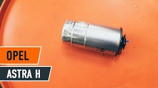 Kuinka ja milloin vaihtaa Polttoainesuodatin bensiini ja diesel OPEL ASTRA H (L48): opetusvideo