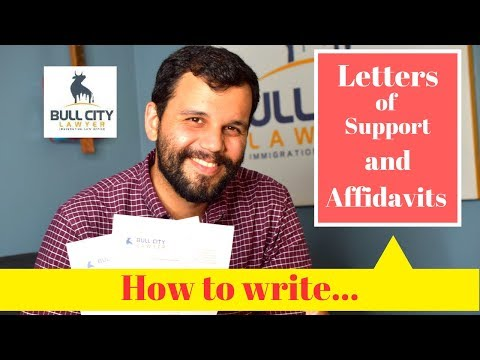 Letters Of Support And Affidavits Of Support For Immigration