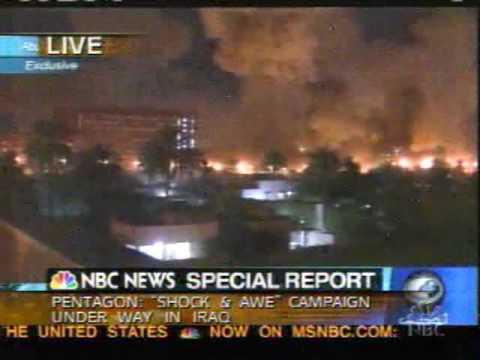 Shock and Awe Baghdad Attack