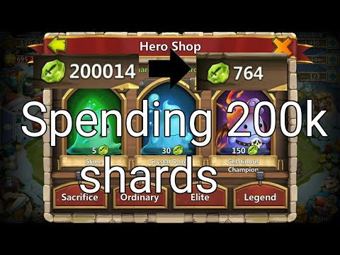 Using 200 000 Shards Evolving Heroes And Upgrading Skills Castle Clash
