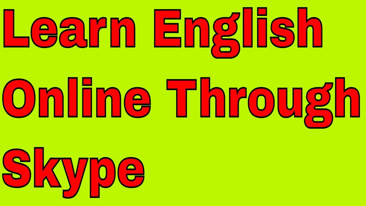 Learn English via Skype - Home | Facebook