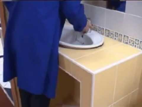 pose de vasque - youtube