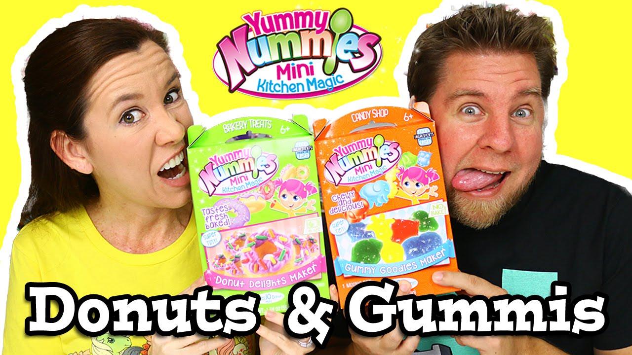 Kitchen Magic Reviews #35: Yummy Nummies Mini Kitchen Magic - Donut Delights U0026amp; Gummy Goodies Maker - YouTube