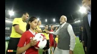 fifa u 17 world cup 2017 pm narendra modi at jln stadium to watch india vs us match