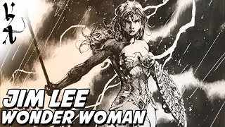 Jim Lee drawing Wonder Woman Lightning