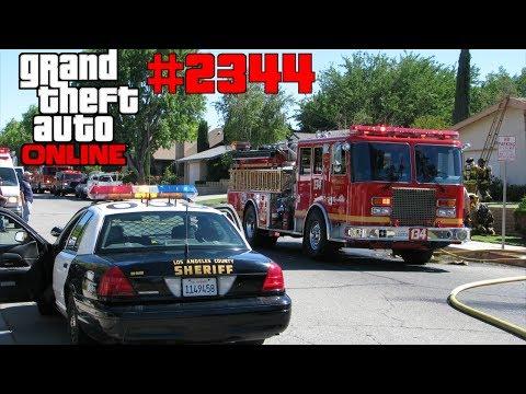 Polizei, Feuerwehr & Krankenwagen Crashchallenge #2344 GTA 5 ONLINE YU91