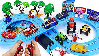Paw Patrol Carrera First Chase and Marshall On the track! Run and Go! | DuDuPopTOY