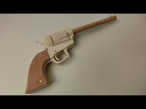 Tutorial! Single Action Revolver Rubberband Gun