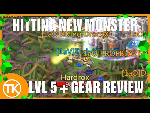 Lords-Mobile | HITTING LVL 5 HARDROX + GEAR REVIEW NEW MONSTER (Hardrox)