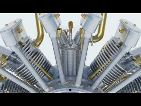 Cmo funciona un MOTOR RADIAL? | SolidWorks | How to | RADIAL ENGINE