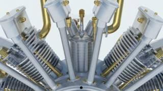¿Cómo funciona un MOTOR RADIAL?   SolidWorks   How to   RADIAL ENGINE