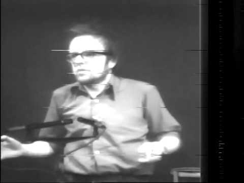 tom leonard at Sound and Syntax festival Glasgow 1978