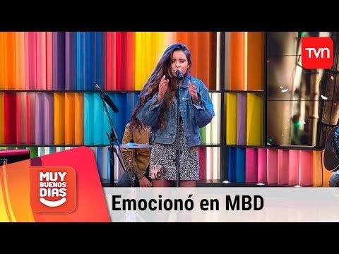 Camila Gallardo emocionó con sus canciones | Muy buenos días