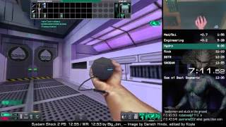 System Shock 2 speedrun 12:49 (wr at the time, since obsolete)
