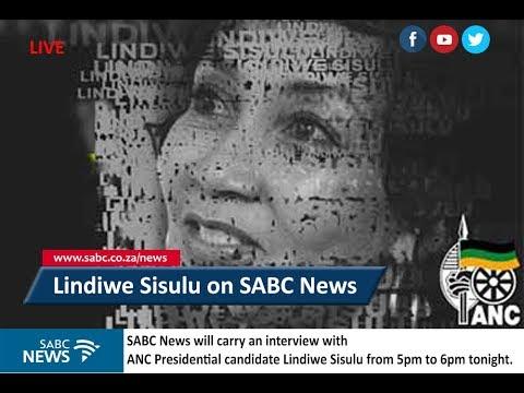 ANC presidential candidate Lindiwe Sisulu live on SABC News