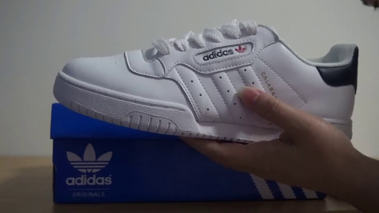 ADIDAS X YEEZY POWERPHASE CALABASAS WHITR BLACK - YouTube 7b2a3ecbb