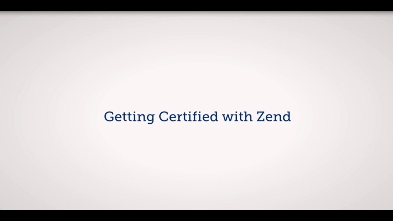 Zend Certification Programs