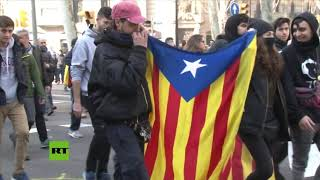 Huelga general en Cataluña contra el juicio a los líderes independentistas