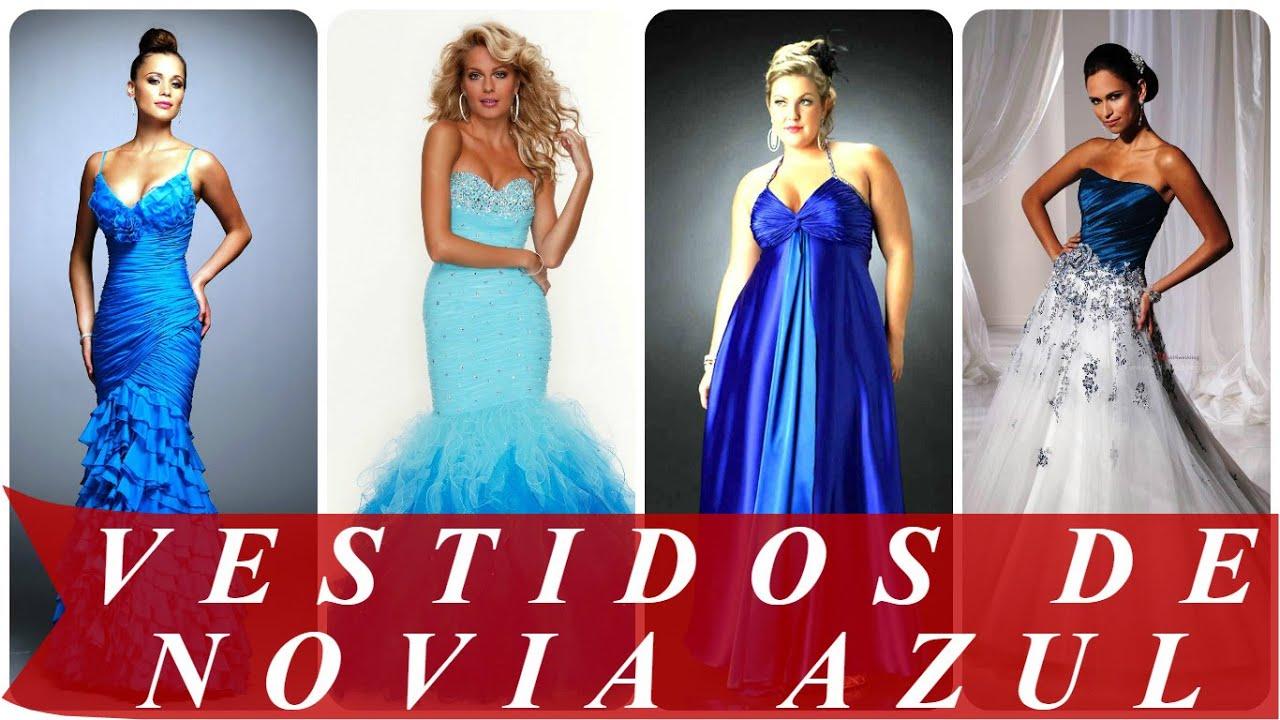 Vestidos de novia color azul rey