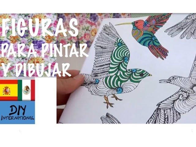INTERESANTE LIBRO PARA COLOREAR Y DIBUJAR CON MARAVILLOSAS FIGURAS ...