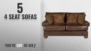 Top 10 4 Seat Sofas [2018 ]: Ashley Furniture Signature Design - Chaling Loveseat with 4 Accent