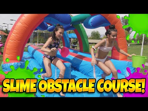 SLIME OBSTACLE COURSE Pop Pops Slime Fest Battle Challenge