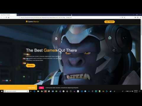 How To Build A Gaming Website.  HTML5, CSS3, JavaScript Tutorial