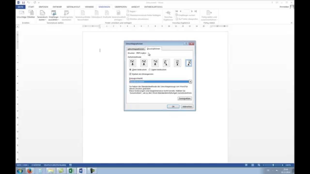 Briefumschläge Bedrucken Mit Serienbrief Funktion Office Tutorial