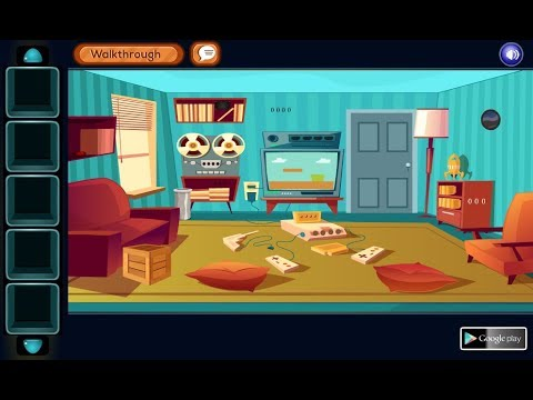Knf Lovely Living Room Escape Walkthrough Wall Clock Gfg Beautiful Geniefungames Youtube