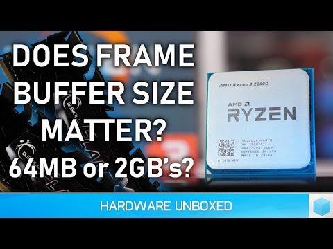 AMD Raven Ridge 8GB vs. 16GB Reserved Memory Benchmark & Explanation