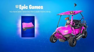 Comment obtenir GRATUIT Cuddle Hearts Wrap dans Fortnite Battle Royale! (RÉCOMPENSES GRATUITES DE LA SAINT-VALENTIN)