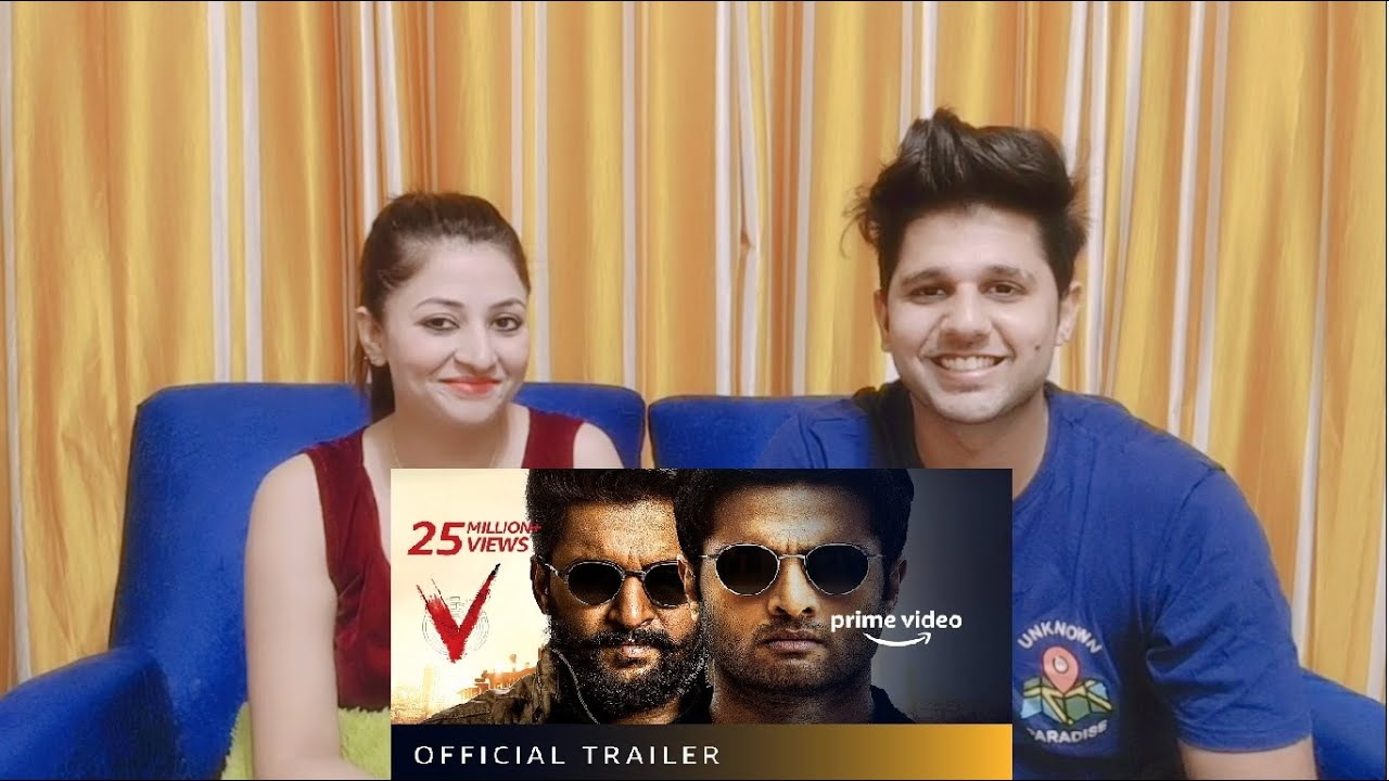 V - Official Trailer | Nani, Sudheer Babu, Aditi Rao Hydari, Nivetha Thomas | SIBLINGS REACTION