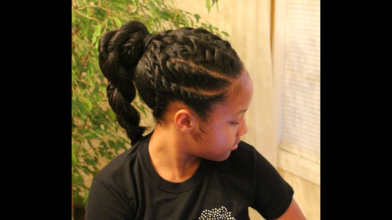 Flat Twists Ponytail Natural Hairstyle Tutorial