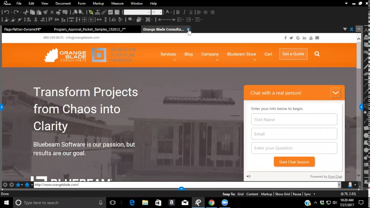 Bluebeam Webinar Series by Orange Blade Consultants - Watch Now
