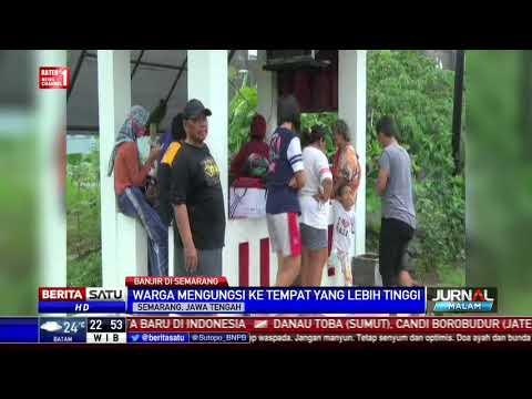 download Banjir di Semarang Akibat Tanggul Sungai Pengkol Jebol