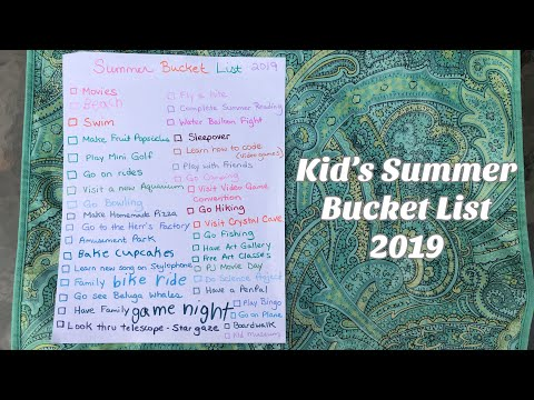 Hoarders Heart: Kid's Summer Bucket List 2019 Vlog! Family Frugal Fun &  Update No Spend Challenge