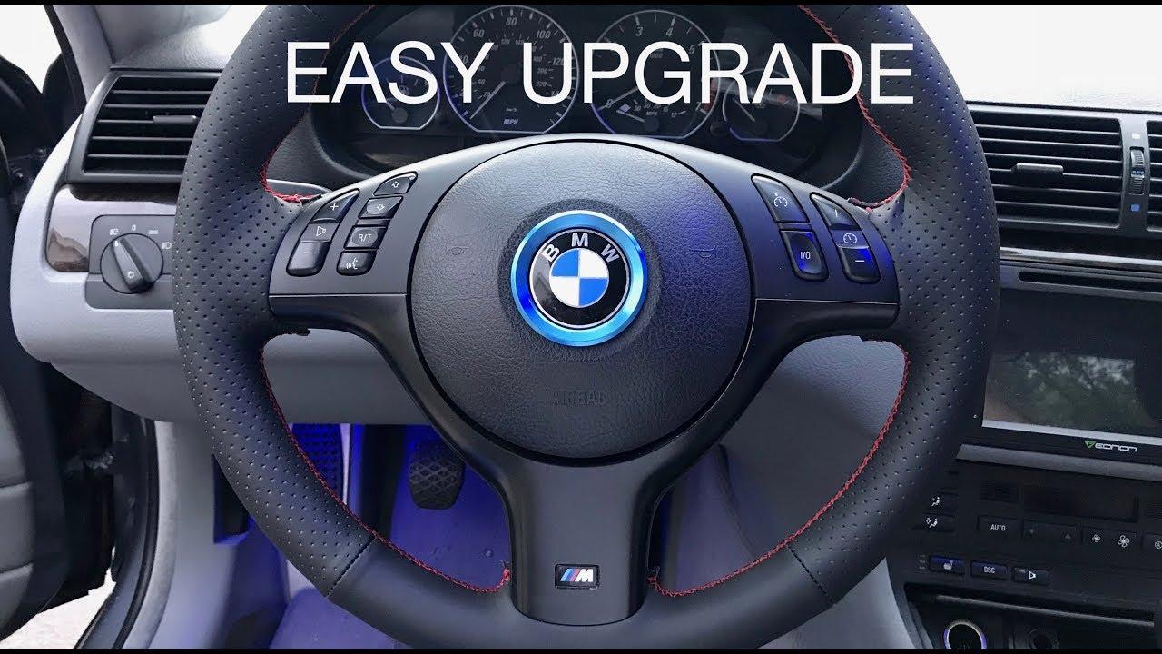 bmw e46 m sport steering wheel install