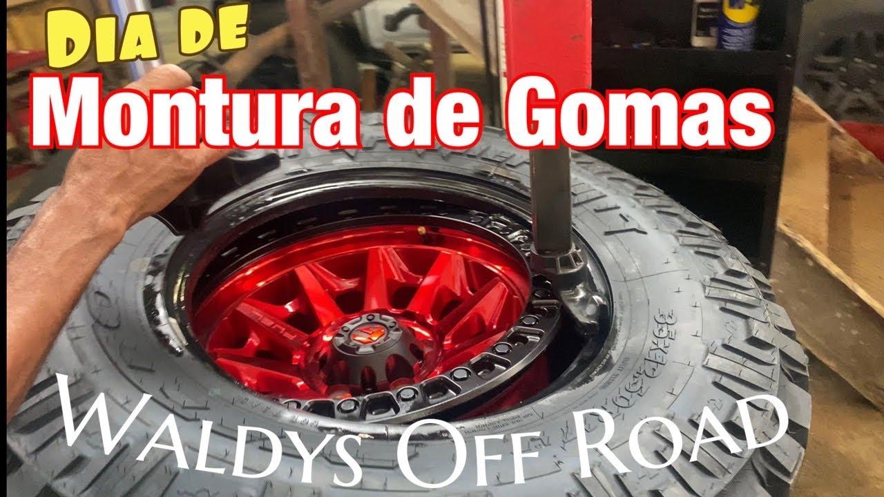 Montura de Gomas! La Meta 100!! No lograda! By Waldys Off Road