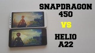 Snapdragon 450 vs Helio A22 Gaming comparison/Xiaomi Redmi 5 vs Redmi 6A GPU/SOC
