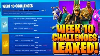 Week 10 Challenges LEAKED! Fortnite Season 6 Week 10 ALL CHALLENGES! Battle Pass Challenges Week 10
