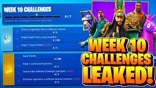 Week 10 Challenges LEAKED! Fortnite Season 6 Week 10 ALL CHALLENGES! Battle Pass Challenges Week 10
