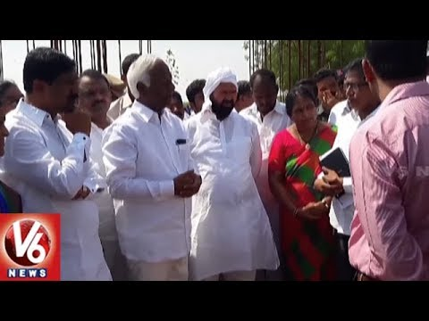 Dy CM Kadiyam Srihari Inspects Collectorate Office Construction Works In Jangaon | V6 News