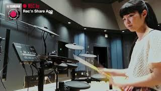 Senri Kawaguchi plays with Yamaha DTX402 x Rec