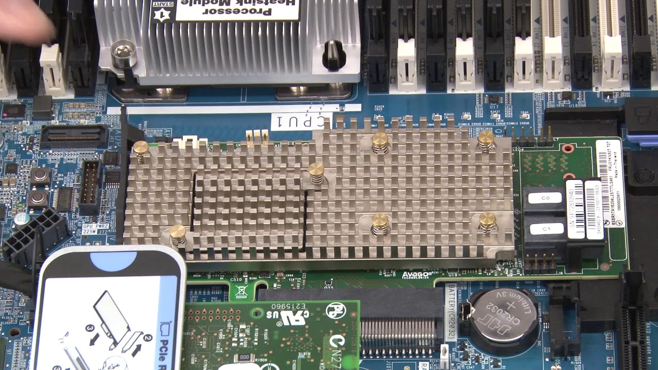 Lenovo ThinkSystem SR630 installing a RAID adapter