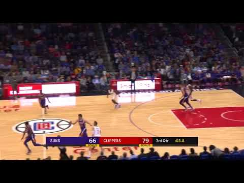 Teodosic Full Court Assist to Lou Williams - Los Angeles Clippers vs. Pheonix Suns - 20/12/2017