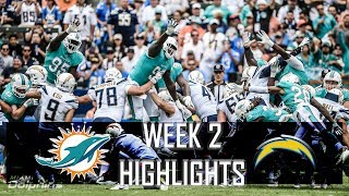 Miami Dolphins vs Los Angeles Chargers NFL Week 2 Highlights