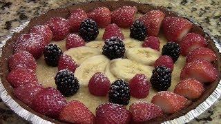 Homemade Fruits Custard Pie(dessert)