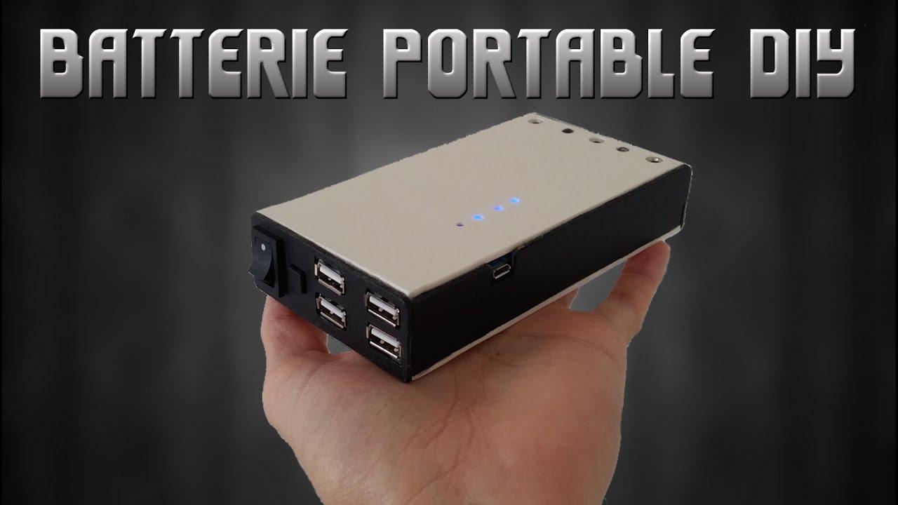 Très Fabriquer une batterie portable / DIY Power bank - YouTube KH81