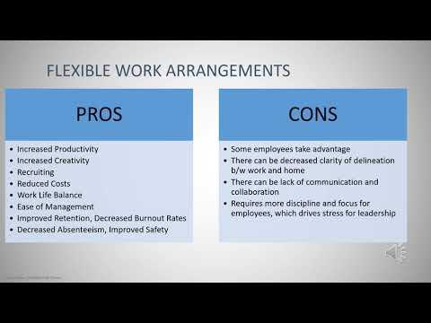 Delineation of flexible work arrangements