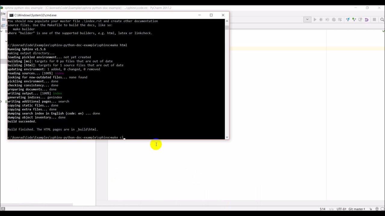 Python documentation website with Sphinx and GitHub - 04 - Autodocument  python code